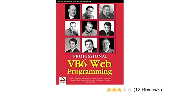PRO VB6 WEB PR, (Wrox Us): Amazon de: ABLAN: Fremdsprachige Bücher
