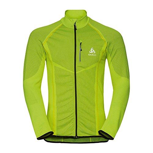 Odlo Velocity Midlayer Full Zip Jacket - safety yellow/black