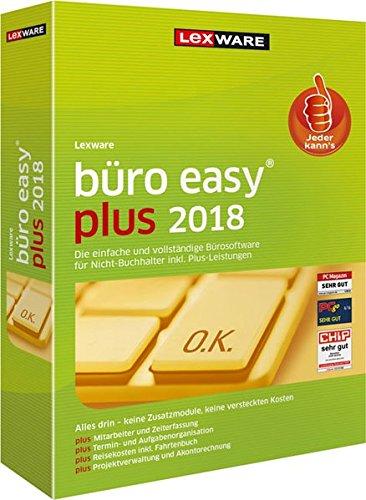 Lexware büro easy plus 2018 | Minibox (Jahreslizenz) | Kompatibel mit Windows 7 oder aktueller | für Selbstständige| Gründer und erfahrene Unternehmer | Bürosoftware mit hohem Funktionsumfang