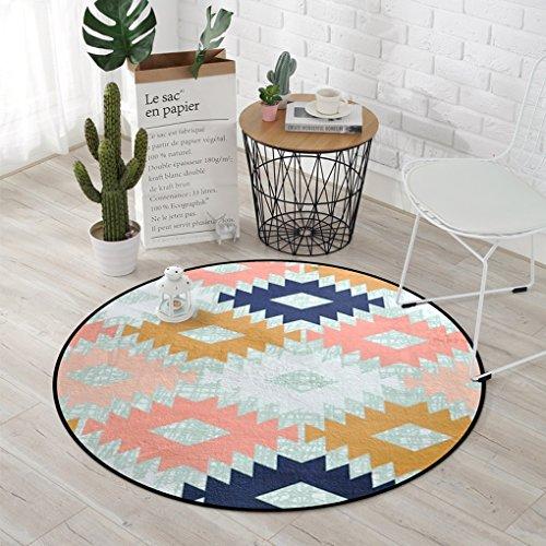 Edge to Teppiche und Decken Teppich, Teppich geometrische Muster runden Teppich, Kinder Kissen Zimmer Computer Stühle Bodenmatte, Wohnzimmer Schlafzimmer Korb runden Teppich (größe : Diameter 150CM) (Teppich-korb)