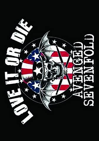 Heart Rock Licensed Avenged Sevenfold–Love It Or Die Flag, fabric, multicoloured, 110x 75x 0.1cm