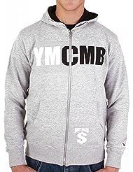 Hoodie YMCMB Classic gris-blanc et noir