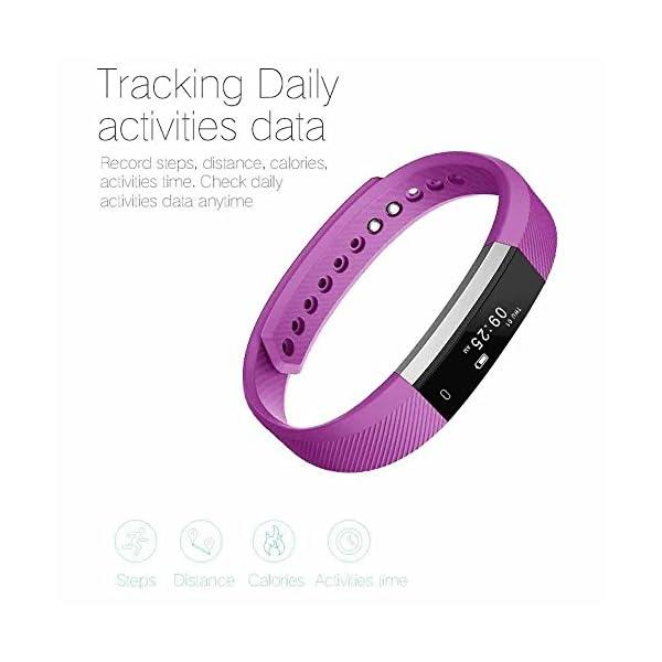 Arbily Pulsera Inteligente, Fitness Tracker Smart Wristband Bracelet monitorear la Actividad de Seguimiento de BOT¨®n t¨¢ctil de Bluetooth Pulsera Brazalete Deportivo Impermeable IP66 de la Aptitud 4