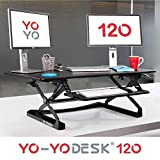 Yo-Yo DESK 120 (Noir) - Meilleure vente des bureaux réglables en hauteur (120 cm de largeur). Bureau assis-debout, adaptable à tous les postes de travail....