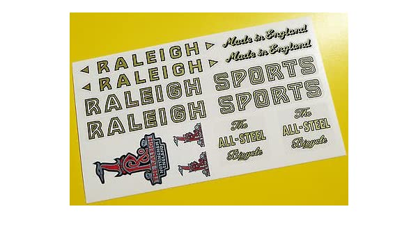 Raleigh Record decal kit