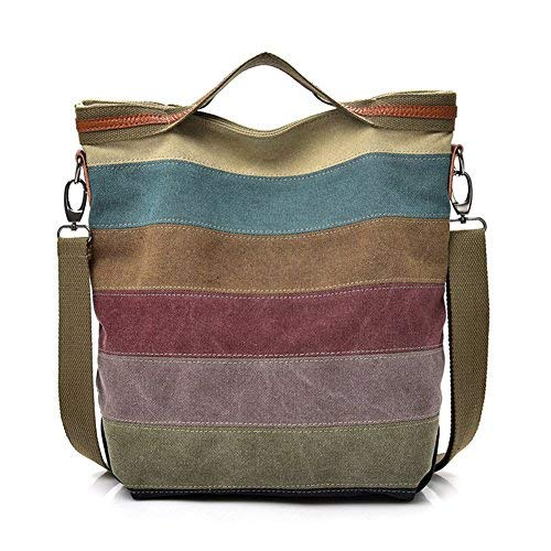 ABLE - Bolso Cruzados Lona Mujer Beige 5