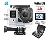 WiMiUS Q4 Actioncam 4k Action kamera mit Dual Bildschirm 16MP FHD Action Camera 40M Wasserdicht mit...