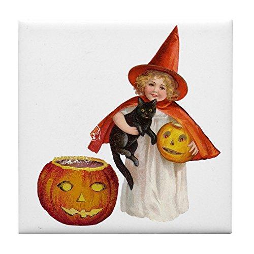 CafePress-Vintage Halloween Hexe-Tile Untersetzer, Drink Untersetzer, Untersetzer, Klein