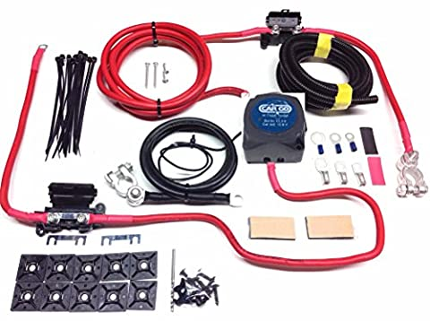 10m Split Charge Kit de relais avec relais 12V 140A Tension Cargo Sense & 110Amp prêt à mines sck310C
