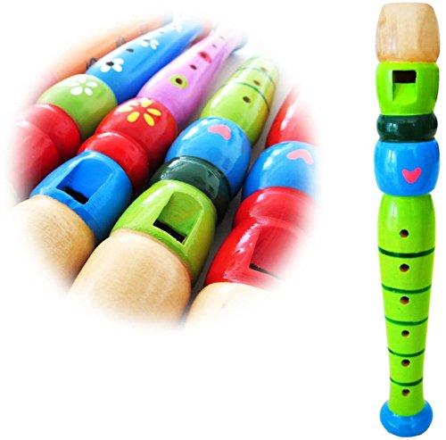 KEEPDRUM KFL1-GR Flöte aus Holz für Kinder Grün - Kinder-flöte Holz