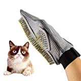 1Pc Dog Cat Rabbit Grooming Glove Deshedding Massage Comb Pet Grooming tool Bath Mitt Hair Removal Brush