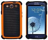 Custodia Galaxy S3, G-Shield Custodia Massima Protezione [Anticaduta] [Antiscivolo] [Antigraffio] Protettiva Antiurto Case Cover Per Samsung Galaxy S3 - Arancione
