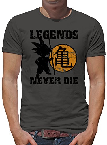 TLM Legends never Die T-Shirt Herren S (Kostüm Katze Goku Son)