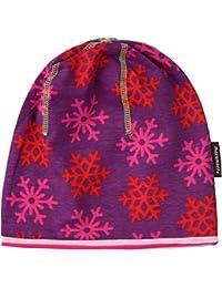 lila-farbene Baby Mütze Hat Circle Schneeflocke von Maxomorra aus Schweden