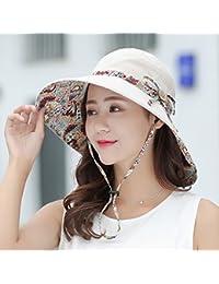 RY-Sombrero Sombrero del Sol de Las Mujeres de ala Ancha Paño Suave  Plegable sombrilla 696253d72ea