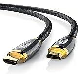 CSL - 5m Ultra HD (4k) HDMI  cable de Platinum | Alta velocidad con Ethernet | 3D / ARC y CEC | Cable de blindaje triple + blindaje de conector y contactos