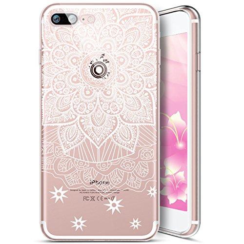 EUWLY Cover per iPhone 6/iPhone 6s (4.7), EUWLY Case per iPhone 6/iPhone 6s (4.7) Silicone Soft TPU Crystal Clear Custodia Cover Premium Trasparente Protettivo Custodia Case Modello Fiore Bello Back Modello # 1