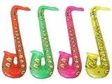 Hen and Stag Accessories - Set di sassofoni gonfiabili (confezione da 4) multicoloured