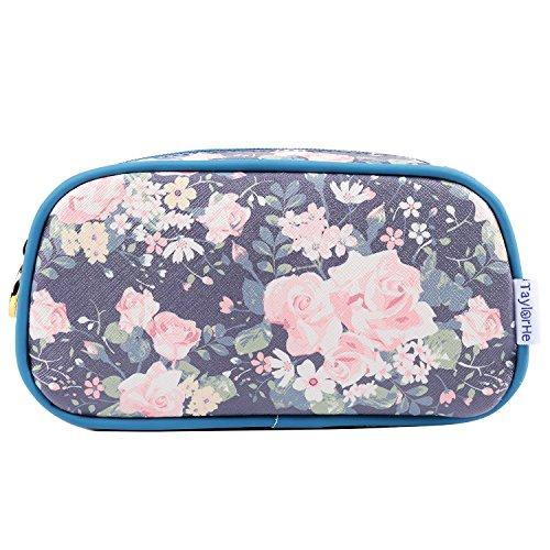 TaylorHe Make up Bag Bolsa de maquillaje Bolsas de aseo Bolsa para lavar Vintage Green Floral Large