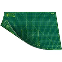 ANSIO Craft Cutting Mat Self Healing A2 Double Sided 5 Layers - Quilting, Sewing, Scrapbooking, Fabric & Papercraft - Imperial/Metric 22.5 Inch x 17 Inch / 59cm x 44cm - Green/Green