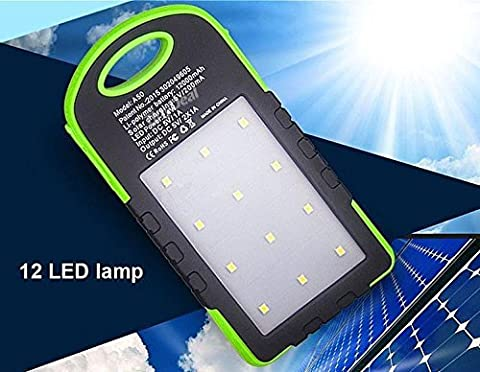 Sunyounger™ Power Green Color Portable Charger 8000mAh Solar Charger Universal Mobile Power Bank Camping Light Solar Light Flashlight Battery Charger for iphone ,smart phone,camera