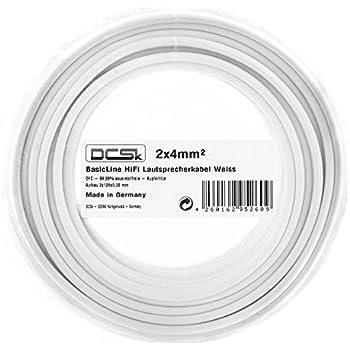 10m Fisual S-Flex Studio Grade White Speaker Cable 2 x 4.0mm