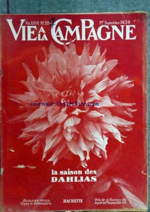 VIE A LA CAMPAGNE [No 327] du 01/09/1930