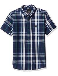 RVCA Big Boys' Waas 2 Short Sleeve Woven Shirt