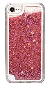 Xelcoy® Bling Sparkle Glitter Stars Dynamic Liquid Quicksand Clear Case Frame for iPhone 7 4.7 inch - Pink