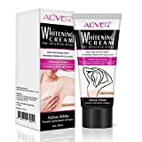 Whitening Cream for Sensitive Areas,Skin Whitening Cream, Natural Whitening Deodorant Cream for Dark Skin, Armpit, Elbow, Body, Neck, Underarm Repair Whitening Cream for Women Beauty