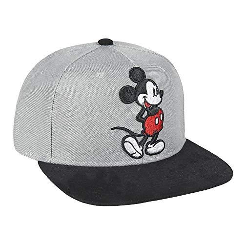 ARTESANIA CERDA Gorra Visera Plana Mickey, Gris (Gris Gris), M (Tamaño del Fabricante:59) para Niños