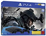 PlayStation 4 Slim inkl. 2 Controller und Call of Duty: Modern Warfare - Konsolenbundle (1TB, schwarz, Slim)