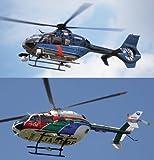 1/72 EC-135 & amp; EC145 hélicoptère de la police et amp; hélicoptère de la prévention des catastrophes