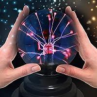 Sfera al plasma, magica sfera a globo elettrica Theefun sensibile al tatto, alimentata a batteria o tramite USB