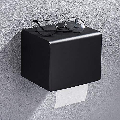 Chenteshangmao Schwarzer Lack-Papierhandtuch-Kasten-Schmiedeeisen-Edelstahl-wasserdichter Toilettenpapier-Halter Größe 16cm * 13cm * 13.5cm Papierkasten-Papierhandtuchhalter Einfach und bequem Persönl