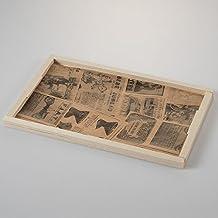 Papel de periodico alimentario vintage 243x152 mm - Pack
