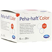 PEHA-HAFT Color Fixierbinde 6 cmx20 m rot 1 St preisvergleich bei billige-tabletten.eu