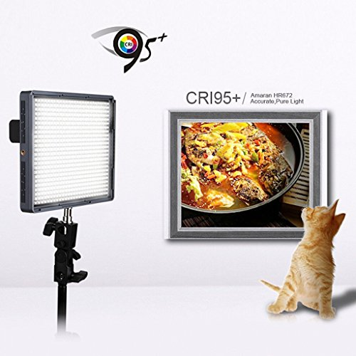 Cheap Aputure High Quality LED Video Lighting Amaran HR672C CRI95+ 672 LED Bulbs High Brightness Adjustable Color Temperature LED Video Camera Light Supports 2.4G FSK Wireless Remote Control 100M Reviews