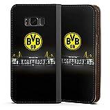 DeinDesign Samsung Galaxy S8 Leder Flip Case Tasche Hülle Borussia Dortmund BVB Stadion