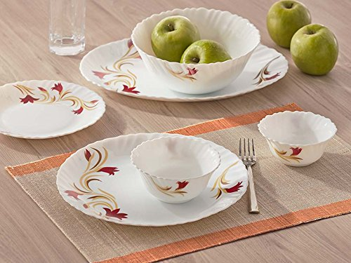 Dinner Set of 33 Pcs Red Lily By Larah