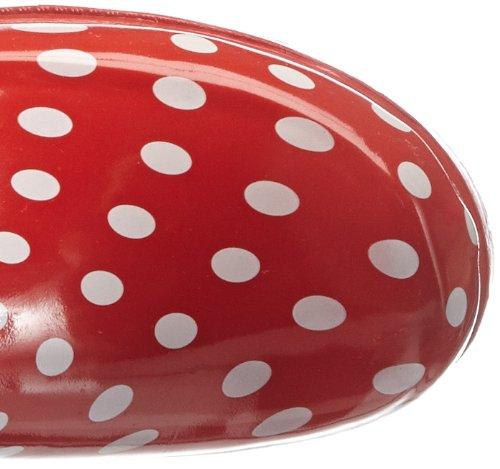 Playshoes Gummistiefel Punkte aus Naturkautschuk 190100, Damen Gummistiefel, Rot (rot 8), EU 37 -