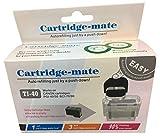 Cartridge Mate Nachfüll-Set für Canon PG-40, für Canon Drucker Pixma IP-1200,IP-1300,IP-1600,IP-1700,IP-1800,IP-1900 und andere Modelle mit PG-40, Schwarz