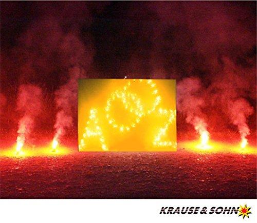 Lichterbild Brennende Ringe mit zwei Buchstaben inkl. Bengalfeuer thumbnail