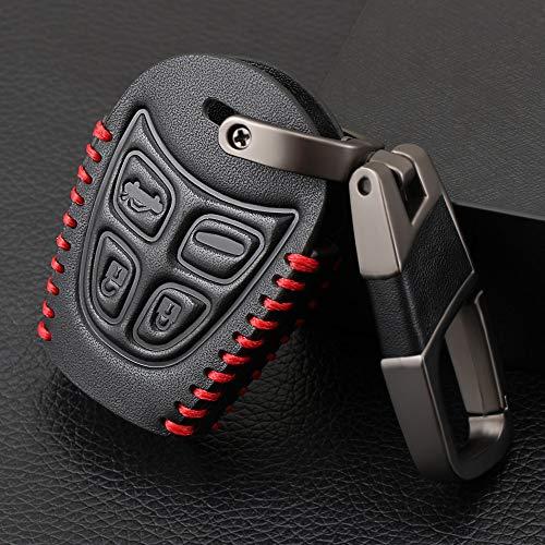 YSKDM Autoschlüssel Fall Autoschlüssel Fall Auto Styling 4-Tasten-Schlüsselanhänger Shell Cover für SAAB 9 3 93 2003 2009 Schlüsselbund Autoschlüssel Tasche, schwarz -