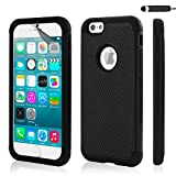 32nd ShockProof Series - Dual-Layer Shock and Kids Proof Case Cover for Apple iPhone 6 & 6S, Heavy Duty Defender Style Case - Black