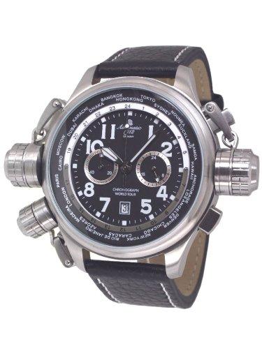 Aeromatic 1912 Aeromatic A1413 - Reloj , correa de cuero color negro