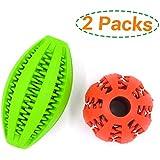 Hundespielzeug Ball Gummi Snackball aus Naturkautschuk für Hunde Welpen 2 Stück