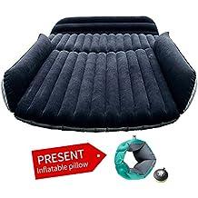 ASJ coche universal de viaje hinchable colchón sofá cama hinchable para camping (negro SUV)