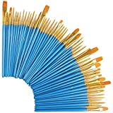 happy event 80 Pcs Nylon Künstlerpinsel | Pinsel-Set Perfektes Pinsel Set | Acryl Öl Aquarell Künstler professionelle Kits | für Anfänger, Kinder, Künstler und Gemälde Liebhaber