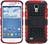 kwmobile Hybrid case with stand for Samsung Galaxy S4 Mini in red black